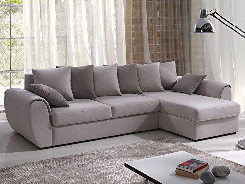 Polsterecke Sofa mit Schlaffunktion MONZA Schlafsofa Schlafcouch Kunstleder Webstoff Bettfunktion Bettkasten