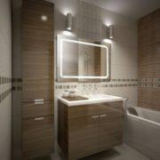 KROLLMANN Badezimmer-Spiegel 65 x 100 cm beleuchtet durch LED-Lichtfelder fürs Bad [Energieklasse A+] 1