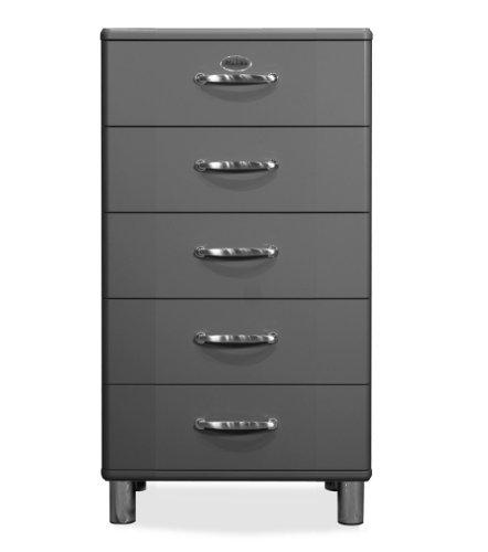 Tenzo 5215-014 Malibu - Designer Kommode, MDF lackiert, 111 x 60 x 41 cm, grau