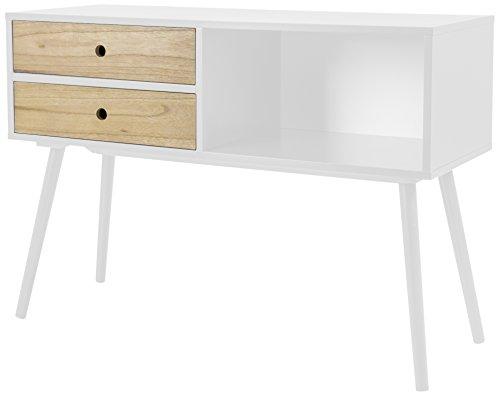 Tenzo 1362-001 Page Sideboard, Holz, weiß, 99,5 x 38 x 70,5 cm