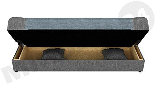 Schlafsofa Jonas, Sofa mit Bettkasten und Schlaffunktion, Bettsofa, Dauerschläfer-sofa, Schlafcouch, Materialmix, Couch vom Hersteller, Wohnlandschaft (Lawa 06)