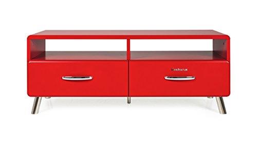 Tenzo 4942-028 Cobra Designer TV-Bank, MDF lackiert, 46 x 118 x 43 cm, rot