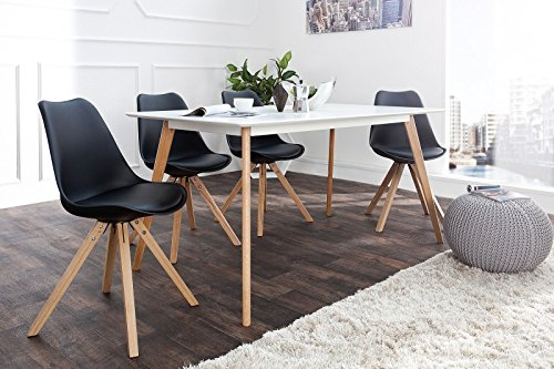 DuNord Design Stuhl NEW STOCKHOLM Retro Design (schwarz)