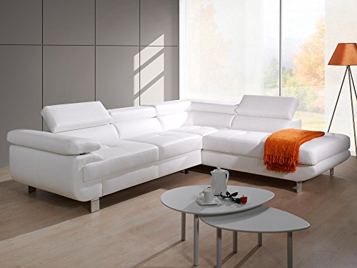 Polsterecke Sofa Lotos mit Schlaffunktion Bettkasten Schlafsofa Schlafcouch Kunstleder Webstoff
