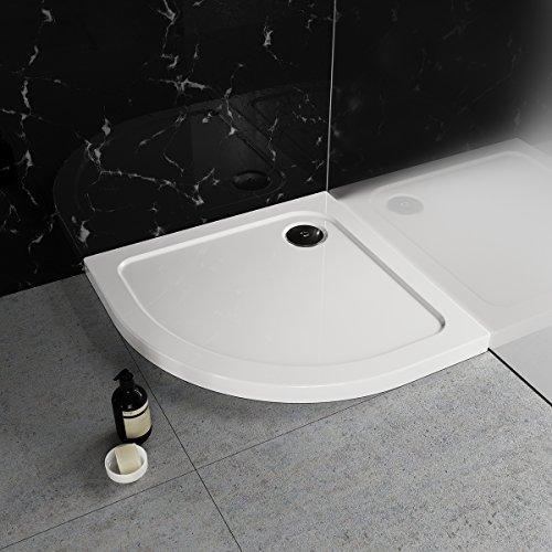 Duschwanne / Duschtasse Nordona® SIMPLEX, viertelkreis 90 x 90 cm | Flache Aufbau-Höhe: 5,5 cm | Kompatibel mit Nordona® VersoFlat Ablauf