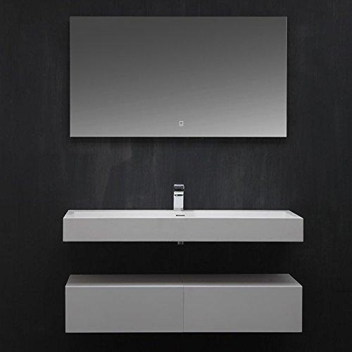 STONEART Badmöbel LP4512 SET weiß 120x48cm matt