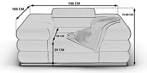 Sessel 1-Sitzer Ledersofa braun Lyon braun Teilleder XXL Sofa Couch