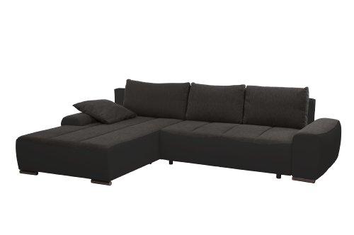 Cavadore 952 Polsterecke Avengos, Longchair 2-er Bett, 200 x 84 x 304 cm, Orlando, antrazit-bison schwarz