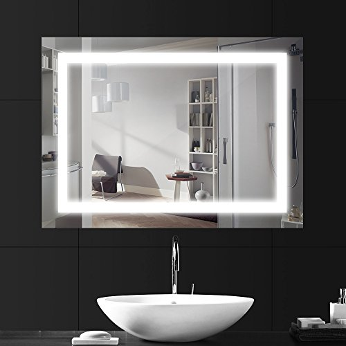 lebright led badezimmerspiegel lichtspiegel 18w 80 60cm badspiegel mit beleuchtung led. Black Bedroom Furniture Sets. Home Design Ideas
