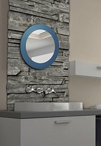 """KROLLMANN Kristallspiegel / Wandspiegel / Badspiegel Modell """"Esanto"""" - Durchmesser ca. 58cm"""