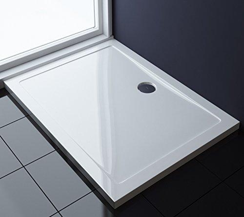 90x120x4 cm Design Duschtasse Faro2 in Weiß, Duschwanne, Acrylwanne