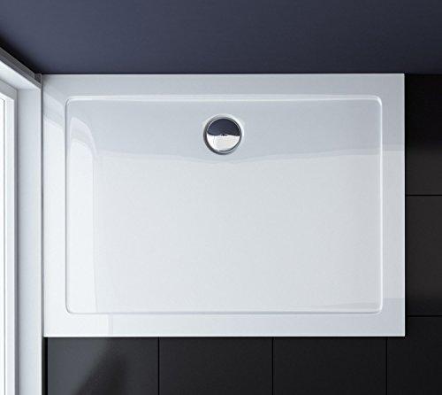 90x140x4 cm Design Duschtasse Faro2 in Weiß, Duschwanne, Acrylwanne