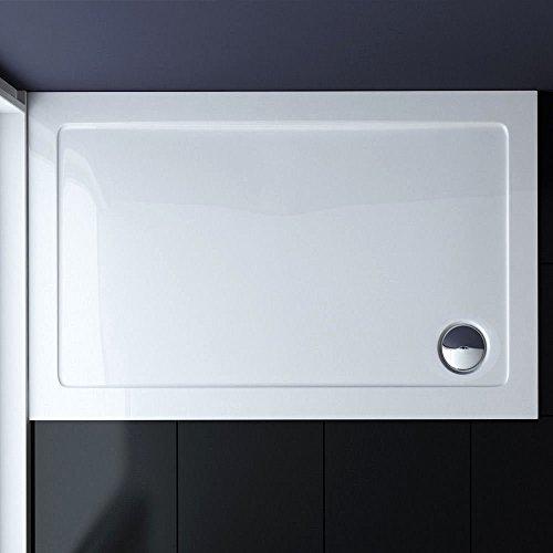 100x90 Duschtasse Duschwanne Extra Flach 40 mm Eckig Weiß