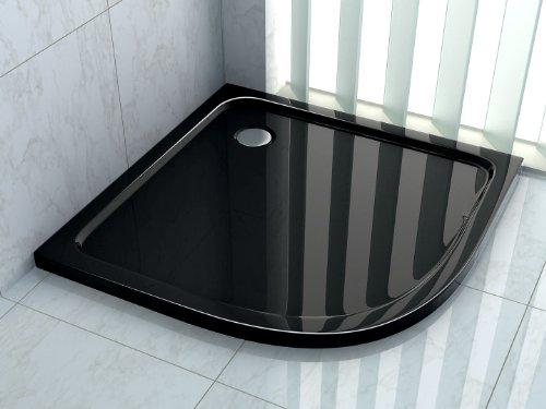 50 mm Duschtasse 100 x 100 cm Viertelkreis (schwarz)