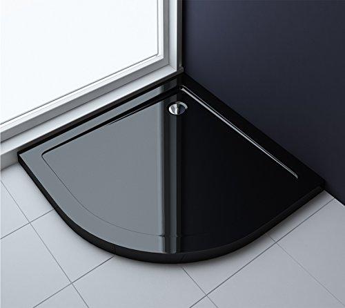 90x90x4 cm Design Duschtasse Faro3b in schwarz, Duschwanne, Acrylwanne
