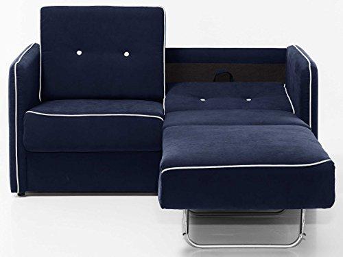 schlafsofa merina grau blau wei mikrofaser stoff sofa couch schlafcouch mit federkern. Black Bedroom Furniture Sets. Home Design Ideas