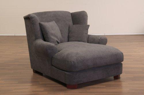 xxl sessel dunkelgrauer polstersessel mit massivholzf en gro er sitzfl che polsterung und 2. Black Bedroom Furniture Sets. Home Design Ideas