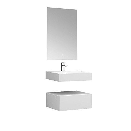 STONEART Badmöbel LP4506 SET weiß 60x48cm glänzend
