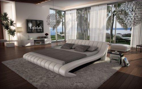SAM® Polsterbett Sorilion in weiß - schwarz 180 x 200 cm