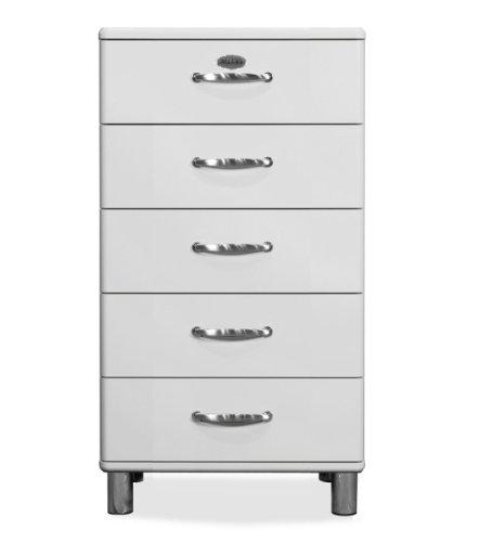 Tenzo 5215-005 Malibu - Designer Kommode, MDF lackiert, 111 x 60 x 41 cm, weiß