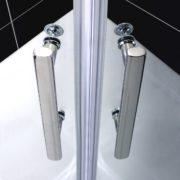 90x90x185cm Duschkabine Duschabtrennung Runddusche Viertelkreis Duschtür mit Nanobeschichtung (NS7-90E) 2