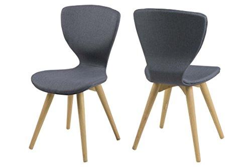 AC Design Furniture 0000058698 Henriette Stuhl, grau, 49 x 44 x 87 cm, 2 Stück