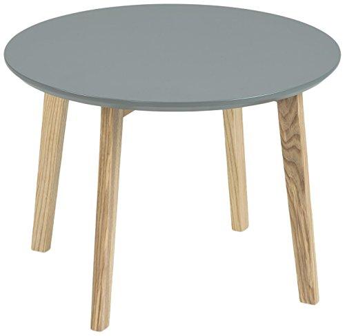 AC Design Furniture 60337 Ecktisch Mia, Tischplatte aus Holz, lackiert dunkelgrau