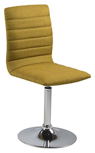 AC Design Furniture 63051 Esszimmerstuhl, Stoff, curry, 55 x 42 x 91 cm