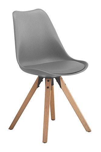 AC Design Furniture 65404 Esszimmerstuhl, Plastik, grau, 42 x 44 x 85 cm