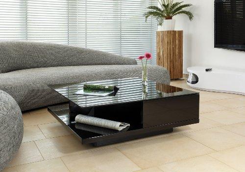 AC Design Furniture Couchtisch mit Schublade in Hochglanz schwarz Clara