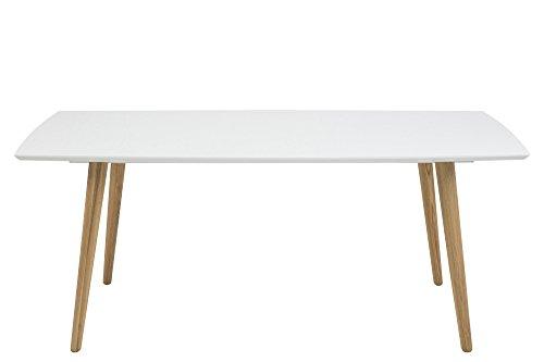AC-Design-Furniture-Esstisch-180x100cm-aus-Holz-Tischplatte-wei-Hochglanz-Beine-natur-Romin-0