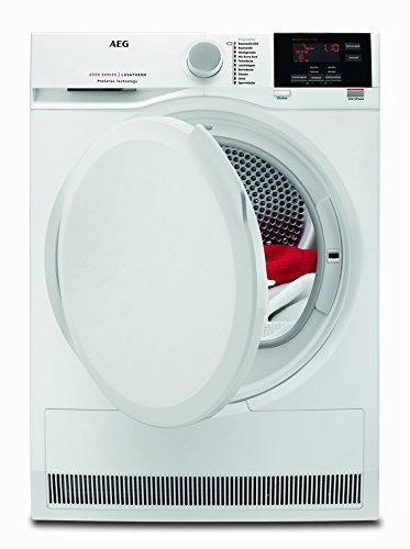 AEG T6DB60375 Wäschetrockner / effizienter Kondensationstrockner mit Mengenautomatik und Knitterschutz / 7 kg Schontrommel mit XXL-Türöffnung / bewahrt die Qualität der Textilien / Energieklasse A+ (504 kWh pro Jahr) / weiß