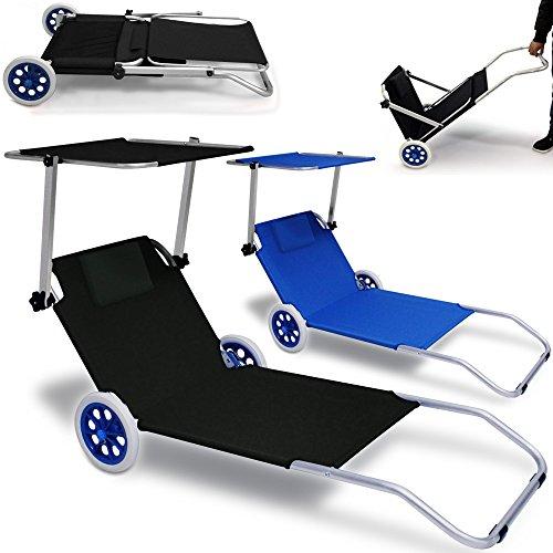 ALU-Strandliege-KRETA-klappbar-Blau-Gartenliege-Strand-Sonnenliege-Liegestuhl-Liege-0