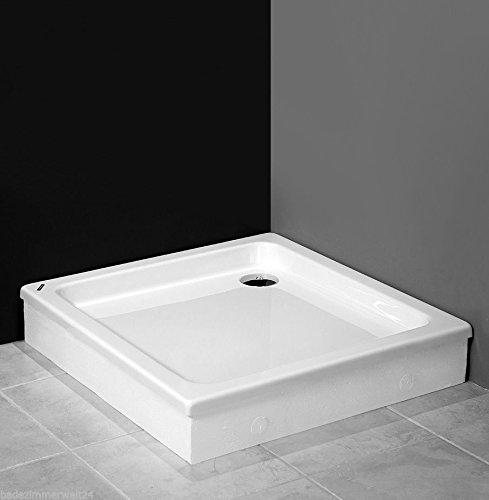 AQUABAD® Duschwanne/Duschtasse mit Styroporträger zum befliesen, Quadratisch 90x90x17 cm