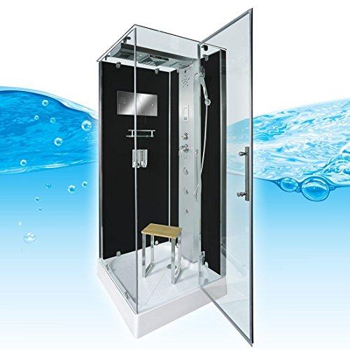 AcquaVapore DTP6038-0303R Dusche Dampfdusche Duschtempel Duschkabine -Th. 80x80, EasyClean Versiegelung der Scheiben:2K Scheiben Versiegelung +99.-EUR
