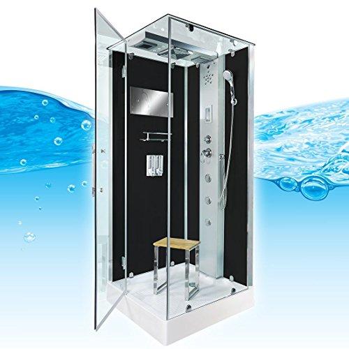 AcquaVapore DTP6038-2302L Dusche Dampfdusche Duschtempel Duschkabine 100x100, EasyClean Versiegelung der Scheiben:Nein! +0.-EUR