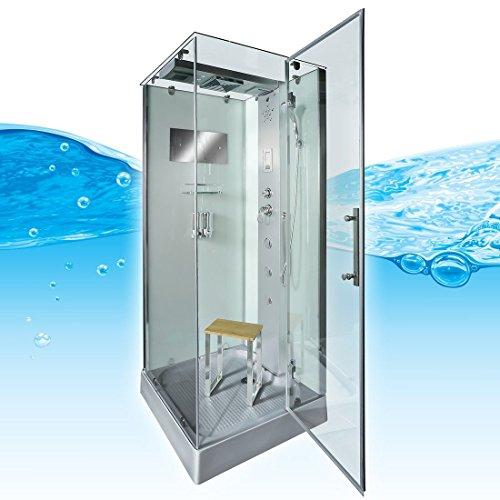 AcquaVapore DTP6038-4002R Dusche Dampfdusche Duschtempel Duschkabine 100x100, EasyClean Versiegelung der Scheiben:Nein! +0.-EUR