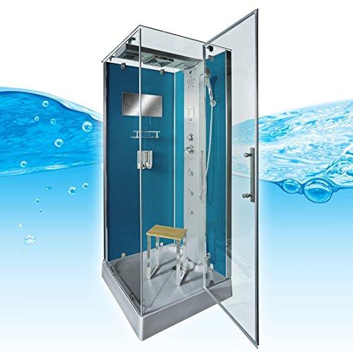 AcquaVapore DTP6038-4103R Dusche Dampfdusche Duschtempel Duschkabine -Th. 100x100, EasyClean Versiegelung der Scheiben:2K Scheiben Versiegelung +99.-EUR