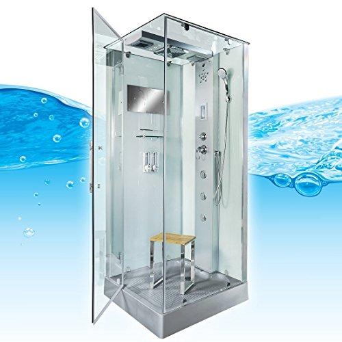 AcquaVapore DTP6038-8002L Dusche Dampfdusche Duschtempel Duschkabine 80x80, EasyClean Versiegelung der Scheiben:Nein! +0.-EUR