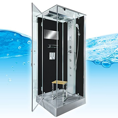 AcquaVapore DTP6038-8302L Dusche Dampfdusche Duschtempel Duschkabine 80x80, EasyClean Versiegelung der Scheiben:Nein! +0.-EUR
