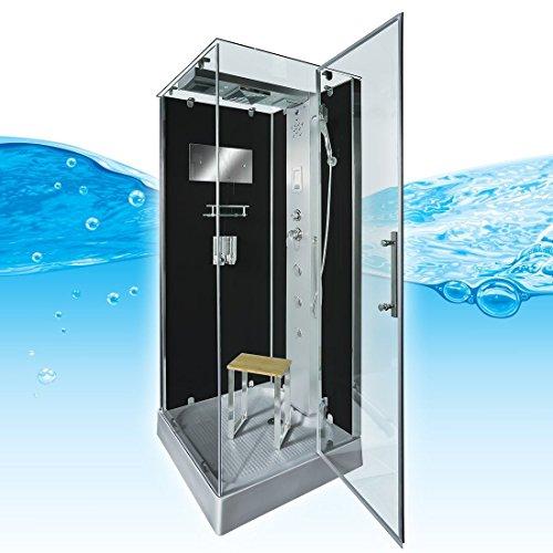 AcquaVapore DTP6038-8302R Dusche Dampfdusche Duschtempel Duschkabine 80x80, EasyClean Versiegelung der Scheiben:Nein! +0.-EUR