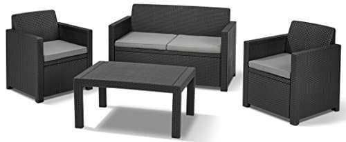 allibert 201319 lounge set merano set rattanoptik kunststoff m bel24. Black Bedroom Furniture Sets. Home Design Ideas