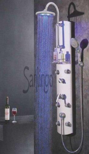 Aluminium Duschpaneel Duschsäule mit LED von Sanlingo