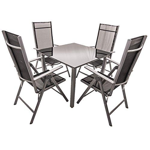 Aluminium Gartenmöbel-Set / Sitzgarnitur Mailand in 3 Größen