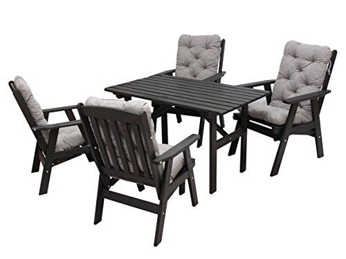 ambientehome 90496 gartengarnitur gartenset sitzgruppe verstellbarer hochlehner varberg taupe. Black Bedroom Furniture Sets. Home Design Ideas