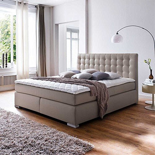 amerikanisches bett in schlamm kunstleder 3 teilig breite 182 cm liegefl che 180 200 pharao24. Black Bedroom Furniture Sets. Home Design Ideas
