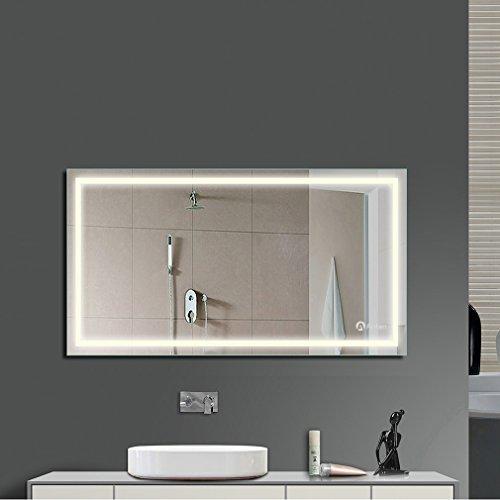 Anten® 18W 4000K IP65 LED Badspiegel Spiegel Wandspiegel mit Beleuchtung 60 cm x 80 cm
