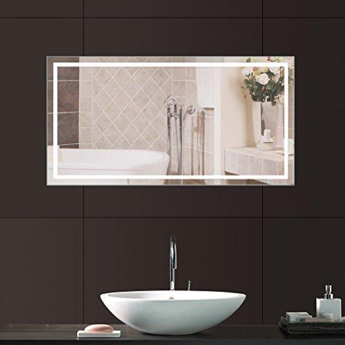 Anten® Badspiegel mit Beleuchtung Lichtspiegel 18W 4000K LED Wandspiegel Badspiegel 80x60cm LED Licht(18W-Natrualweiß)
