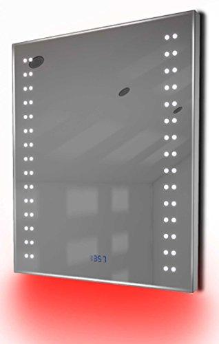 Antibeschlag-Spiegelschrank Bad Raumbeleuchtung, Sensor & Rasiersteckdose K122G