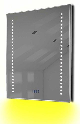Antibeschlag-Spiegelschrank Bad Raumbeleuchtung, Sensor & Rasiersteckdose K126B